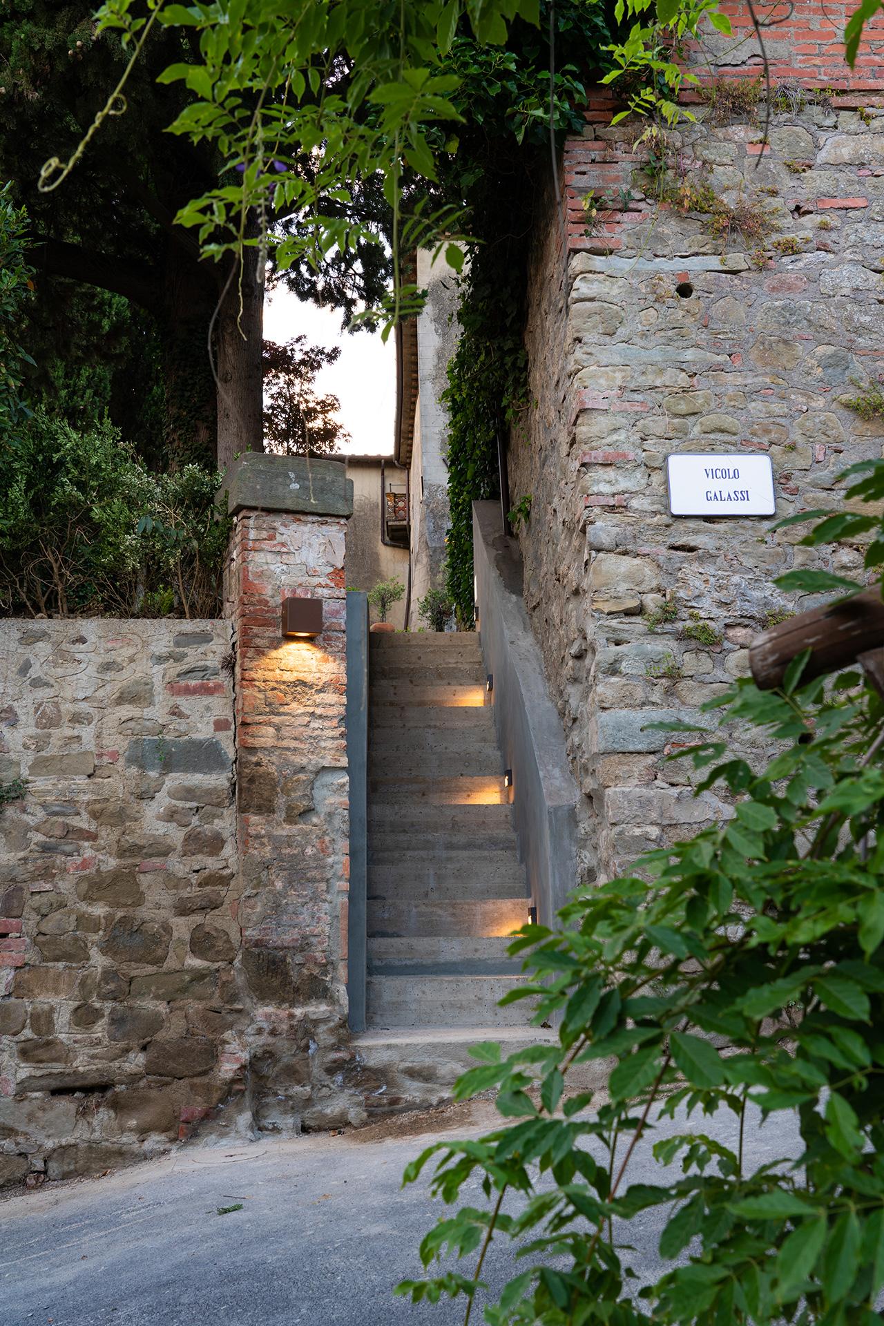 Accesso alla Villa per gli ospiti delle dependance di lusso